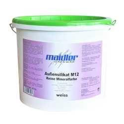 Aussensilikat M12 Fassadenfarbe -weiss | Reine Minefralfarbe für Außent