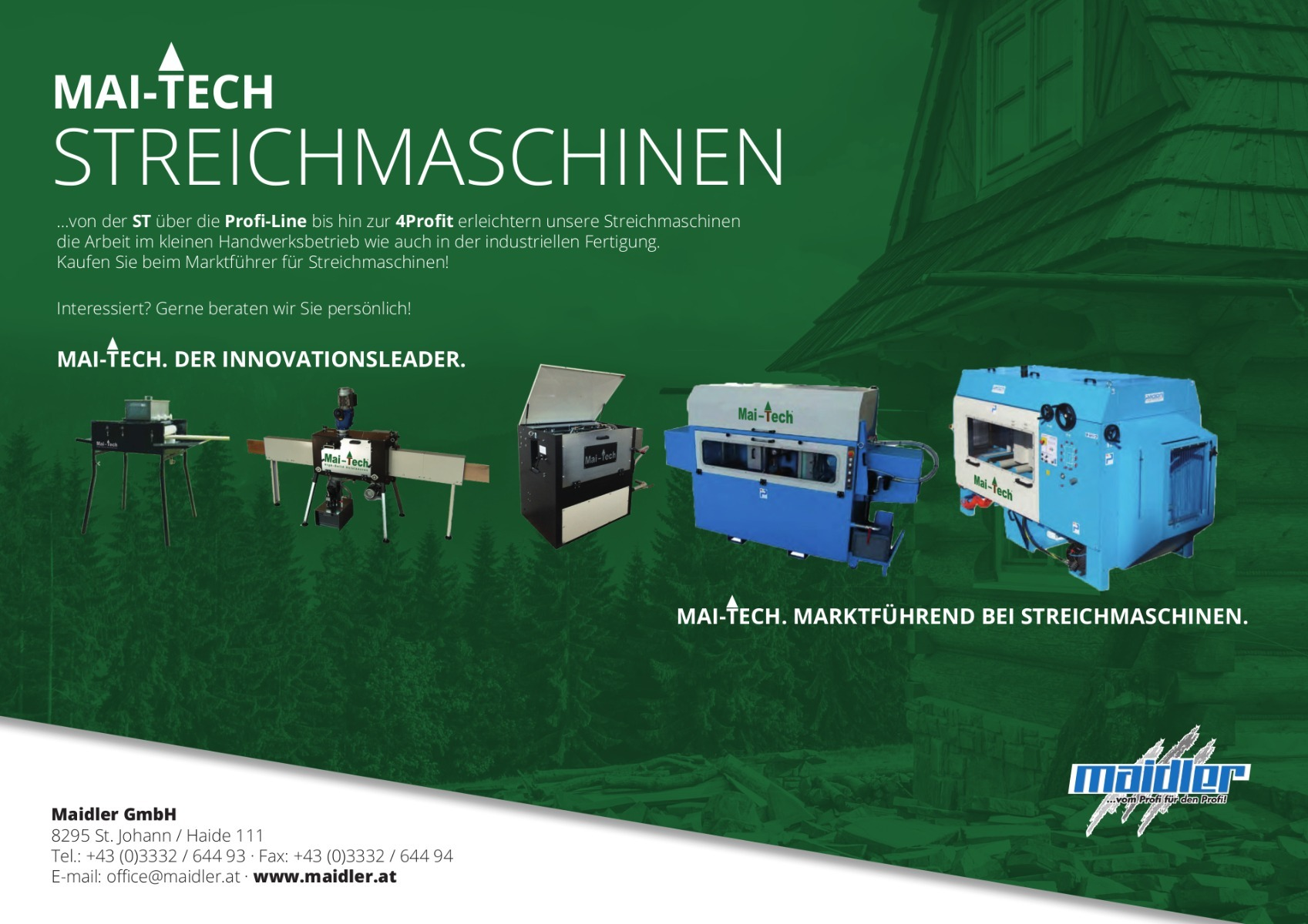 Der neue Mai-Tech Folder listet alle derzeit verfügbaren Mai-Tech Produkte.